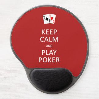 KEEP CALM & PLAY POKER custom mousepad Gel Mouse Mats