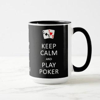 KEEP CALM & PLAY POKER custom mugs