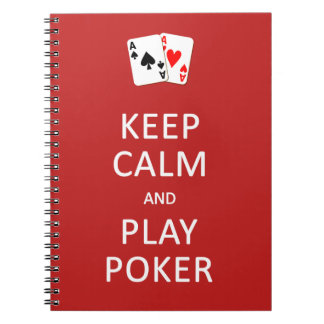 KEEP CALM & PLAY POKER custom notebook