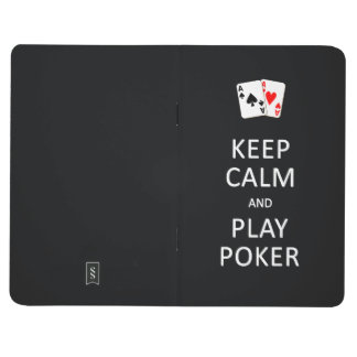 KEEP CALM & PLAY POKER custom pocket journal