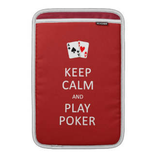 KEEP CALM & PLAY POKER custom sleeves
