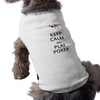 KEEP CALM & PLAY POKER pet clothing