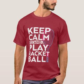 Keep Calm Play Racket Ball T-shirt Sport Athlete