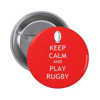 Keep Calm & Play Rugby Pins