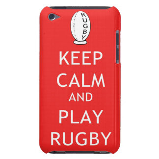 Keep Calm & Play Rugby iPod Touch Case