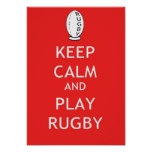 Keep Calm & Play Rugby Poster