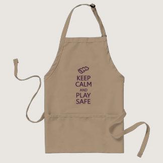 Keep Calm & Play Safe apron - choose style, color