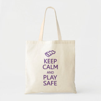 Keep Calm & Play Safe bag - choose style, color