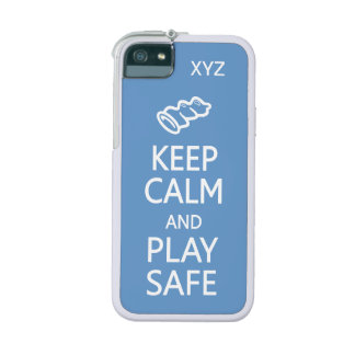 Keep Calm & Play Safe custom color cases Case For iPhone 5