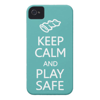 Keep Calm & Play Safe custom color iPhone casemate iPhone 4 Case-Mate Case
