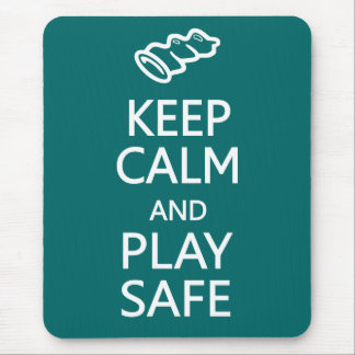 Keep Calm & Play Safe custom color mousepad