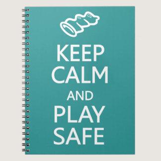 Keep Calm & Play Safe custom color notebook