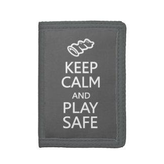 Keep Calm & Play Safe custom color wallets