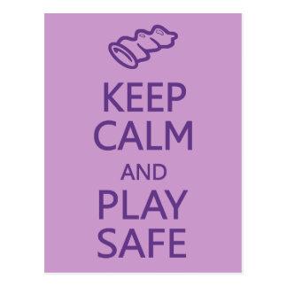Keep Calm & Play Safe custom postcard