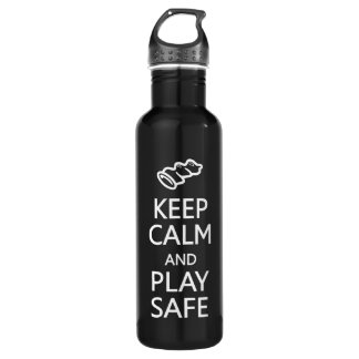 Keep Calm & Play Safe Stainless Steel Water Bottle