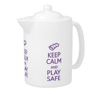 Keep Calm & Play Safe teapot