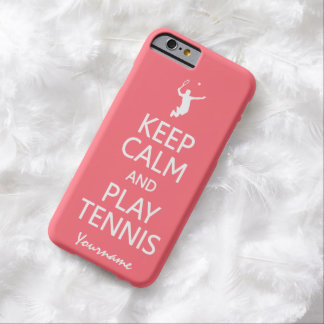Keep Calm & Play Tennis custom color cases Barely There iPhone 6 Case