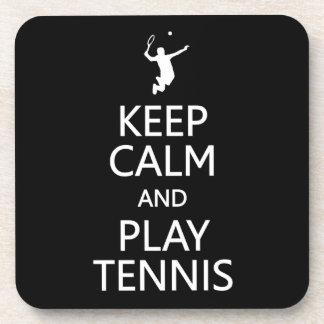 Keep Calm & Play Tennis custom color coasters