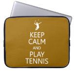 Keep Calm & Play Tennis custom color laptop sleeve