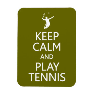 Keep Calm & Play Tennis custom color magnet