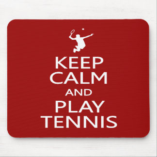 Keep Calm & Play Tennis custom color mousepad