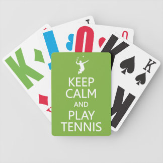 Keep Calm Play Tennis custom color playing cards