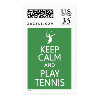 Keep Calm & Play Tennis custom color stamps