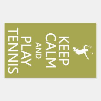 Keep Calm & Play Tennis custom color stickers