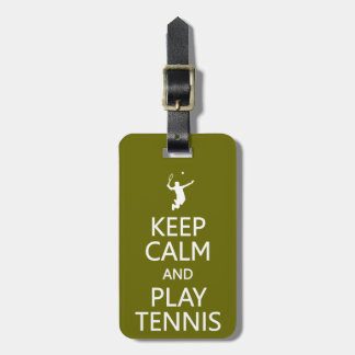 Keep Calm & Play Tennis custom luggage tag