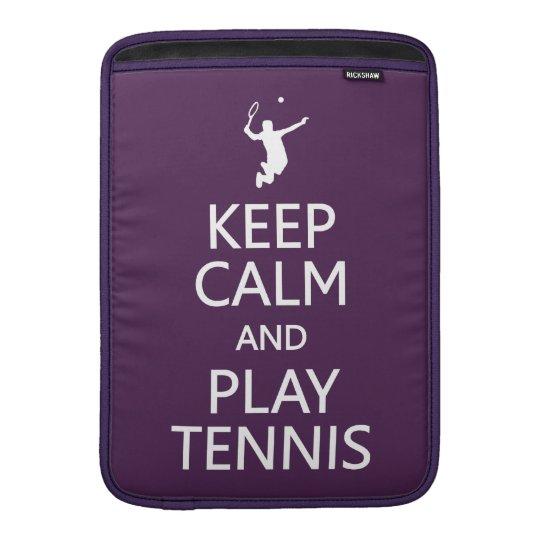 Keep Calm & Play Tennis custom MacBook sleeve