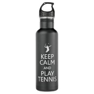 Keep Calm & Play Tennis custom Water Bottle