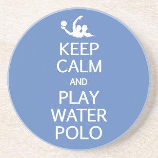 Keep Calm & Play Water Polo custom coaster