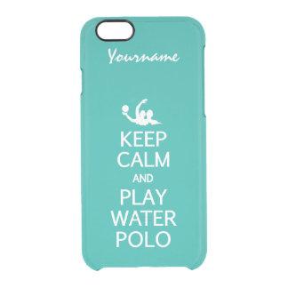 Keep Calm & Play Water Polo custom color cases