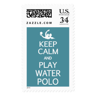 Keep Calm & Play Water Polo custom color stamps