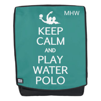 Keep Calm & Play Water Polo custom monogram Backpack
