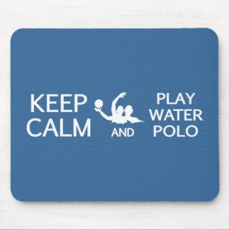 Keep Calm & Play Water Polo custom mousepad