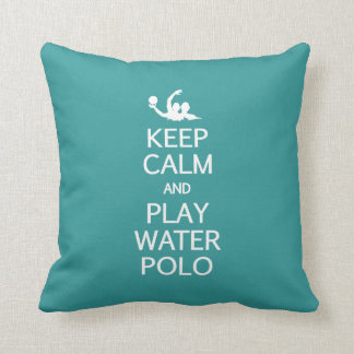 Keep Calm & Play Water Polo custom pillow