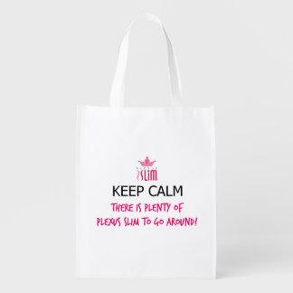 Keep Calm Plexus Slim Reusable Grocery Bags
