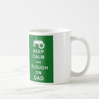 Keep Calm Plough on Dad Mug Fathers Day Birthday