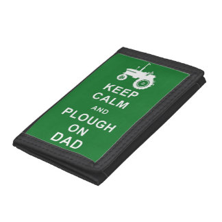 KEEP CALM PLOUGH ON DAD TRACTOR FARMING WALLET