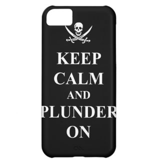Keep calm & plunder on case for iPhone 5C