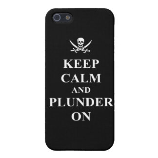 Keep calm & plunder on case for iPhone SE/5/5s