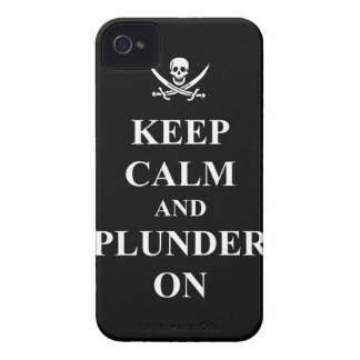 Keep calm & plunder on iPhone 4 cover