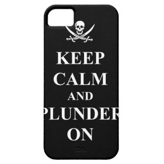 Keep calm & plunder on iPhone SE/5/5s case