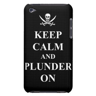 Keep calm & plunder on iPod touch cover