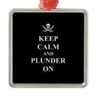 Keep calm & plunder on ornament