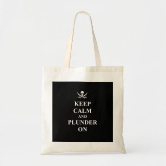 Keep calm & plunder on tote bag
