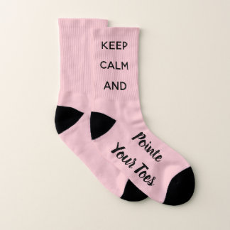 Keep Calm & Pointe Your Toes Ballet Dancer Socks