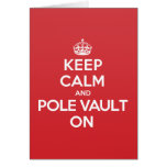 Keep Calm Pole Vault Greeting Note Card