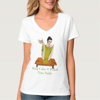 Keep Calm & Polish Your Nails T Shirt